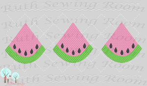Watermelon Faux Smocking Stitch  Embroidery Design Instant download Machine Embroidery,  --  This is NOT a PATCH!