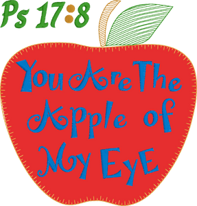 Apple of my Eye Ps 17:8 Vintage Stitch Applique - Design Instant Download Machine Embroidery - This is NOT a PATCH!