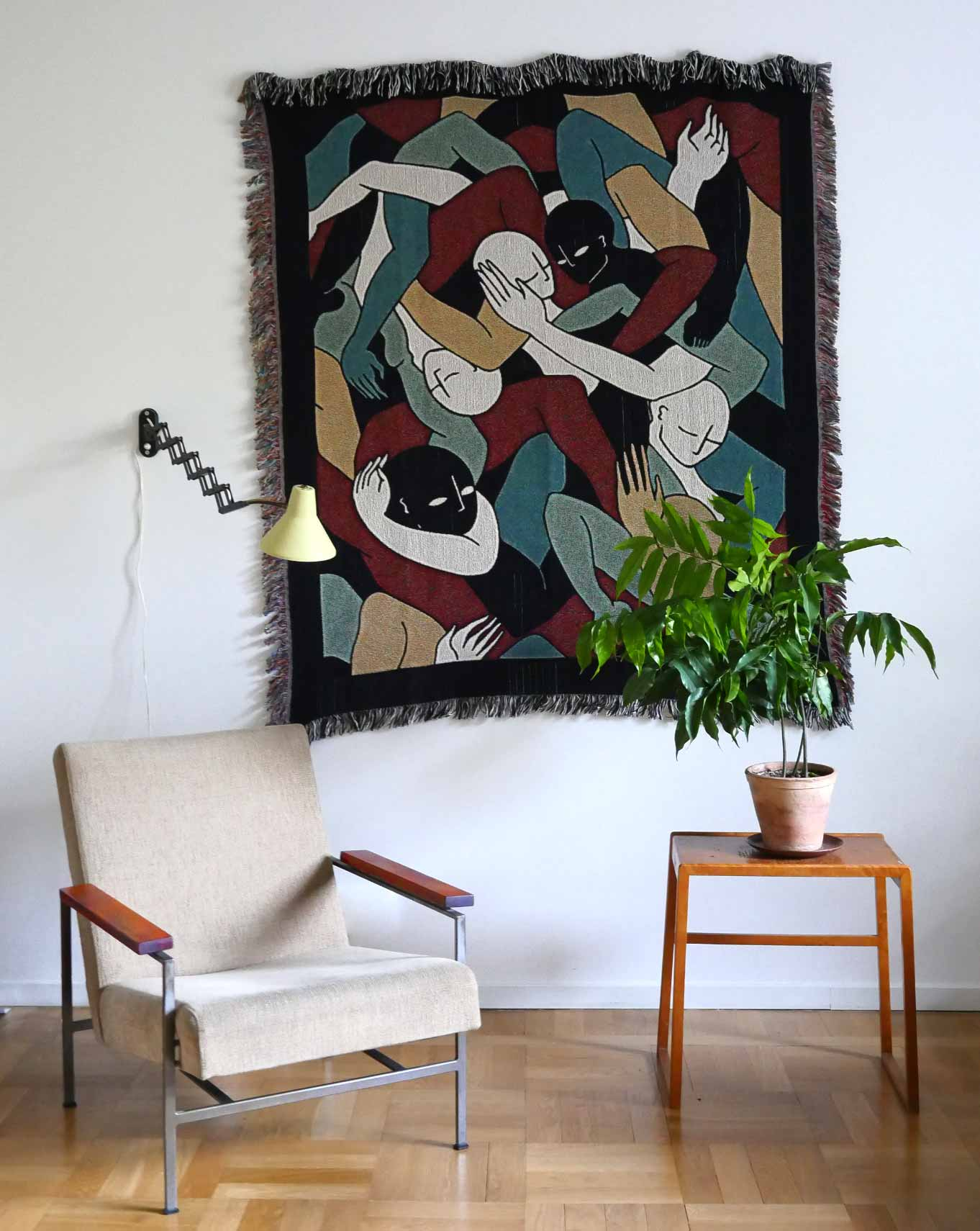 """Jungle"" Woven Art Tapestry by Lena Mačka"
