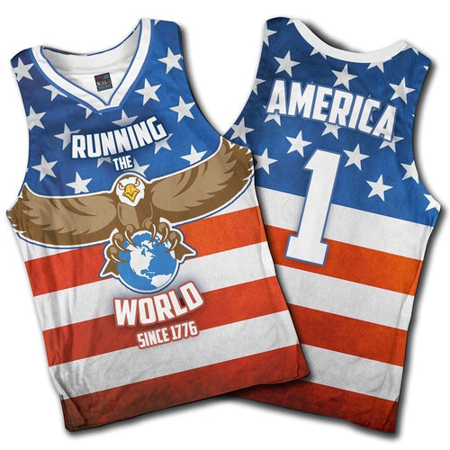 Running The World Since 1776 Basketball Jersey