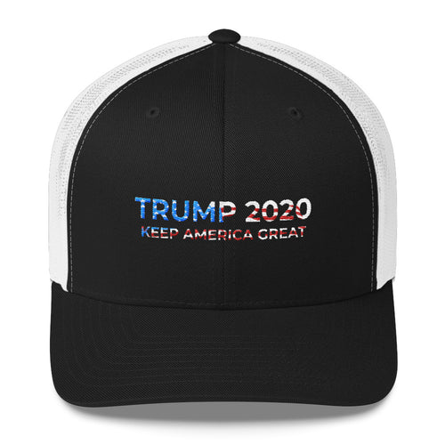 KEEP AMERICA GREAT Red White and Blue MESH Trucker Cap
