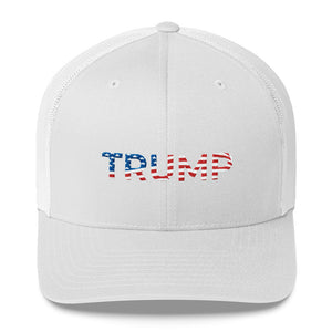 Trump Red White and Blue Trucker Cap