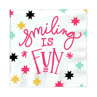 Smiling Is Fun Paper Napkin