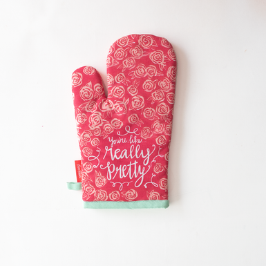 Really Pretty Oven Mitt