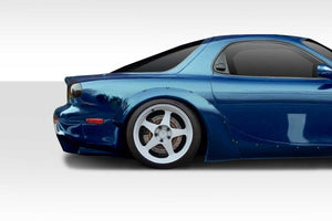 Duraflex 1993-1997 Mazda RX-7 Duraflex TKO Boss Wide Body Rear Fender Flares – 2 Piece