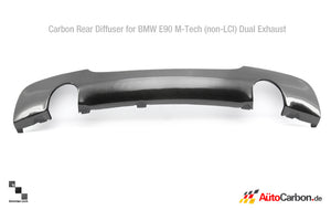 Carbon Fiber Rear Diffuser for BMW E90/E91 3 Series (Pre-LCI) M Tech Bumper