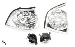 Clear and Smoked Front Turn Signal Lenses for BMW E36 3 Series Sedan