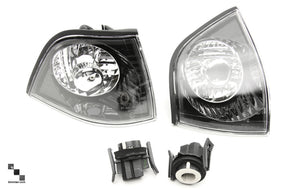 Clear and Smoked Front Turn Signal Lenses for BMW E36 3 Series Coupe and Convertible