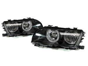 Projector Headlights With Halo Rings for BMW E46 3 Series Sedan and Wagon (Pre-LCI)