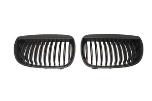 Black Kidney Grilles for BMW E87 1 Series