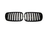 Black Kidney Grilles for BMW E83 X3 (LCI)