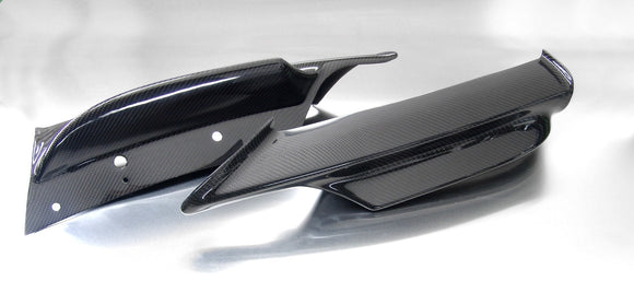 Carbon Fiber Front Bumper Splitters / Flippers for BMW E90/E91 3 Series (LCI) with Standard Bumper