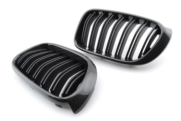 Carbon Fiber Front Kidney Grilles for BMW F25 X3, F26 X4