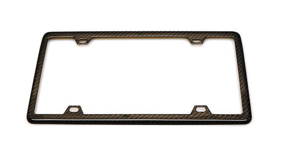 2x2 Carbon Fiber Weave License Plate Frame