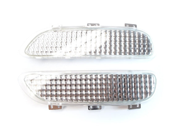 Clear and Smoke Front Reflectors for BMW E46 3 Series Coupe and Convertible (Pre-LCI)