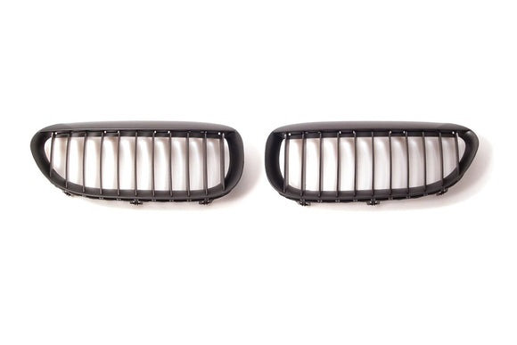 Black Kidney Grilles for BMW E63 6 Series
