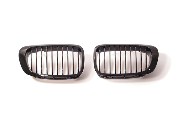 Black Kidney Grilles for BMW E46 3 Series Coupe and Convertible (Pre-LCI) & M3