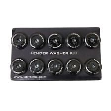 NRG Fender Washer Kit, Set of 10, Black with Color Matched Bolts, Rivets for Plastic
