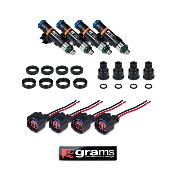 Grams Performance Fuel Injector Kits – 550cc B, D, F, H (exc d17) injector kit
