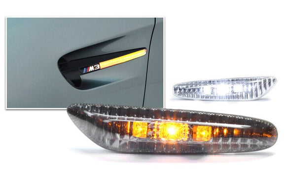 LED Side Lenses for BMW E60, E8X 1 Series, E84 X1, E9X 3 Series