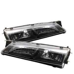 Spyder Nissan 240SX 97-98 Crystal Headlights Black