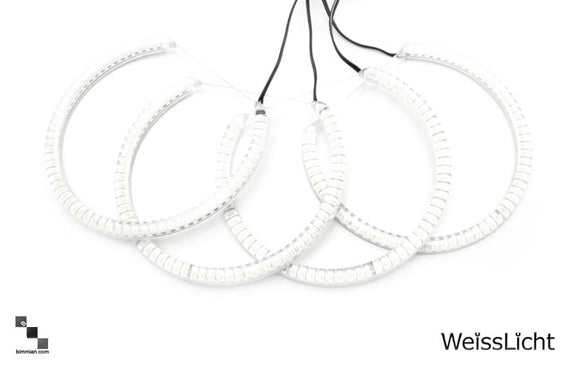 White Halo Rings Kit - Clear - 120 LEDs  (Halogen Setup)