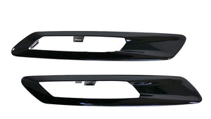 Shadow Side Grilles Gloss Black for BMW F10/F11 5 Series