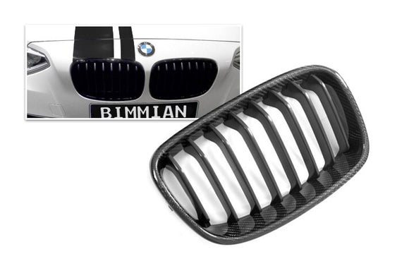 Carbon Fiber Front Kidney Grilles for BMW F20/F21 1 Series