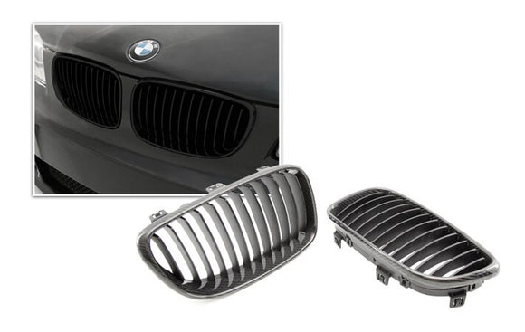 Carbon Fiber Front Kidney Grilles for BMW E87 1 Series