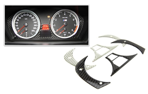 Carbon Fiber Cluster Trim for BMW E60 5 Series, E63 6 Series, E70 X5, E71 X6