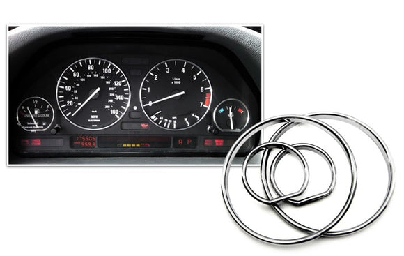 Chrome Gauge Rings for BMW E34