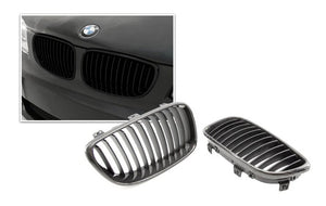 Carbon Fiber Front Kidney Grilles for BMW E82/E88 1 Series (Pre-LCI)