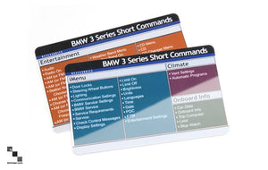 Voice Command Reference Cards for BMW E90/E91/E92/E93 3 Series