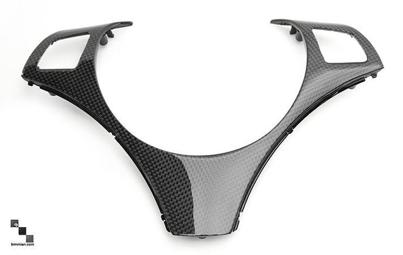 Carbon Fiber Steering Wheel Trim for BMW E9X 3 Series