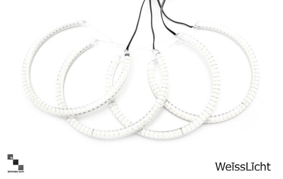 78 LED White Halo Rings Kit- Clear (Halogen Setup)