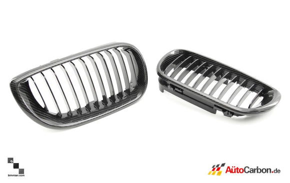 Carbon Fiber Front Kidney Grilles for BMW E46 3 Series Sedan (Pre-LCI)