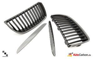 Carbon Fiber Front Kidney Grilles for BMW E90/E91 3 Series (Pre-LCI)