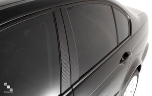 Carbon Vinyl Pillar Trim Overlays for BMW E70 X5