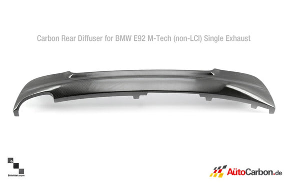 Carbon Fiber Rear Diffuser for BMW E92/E93 3 Series (Pre-LCI)