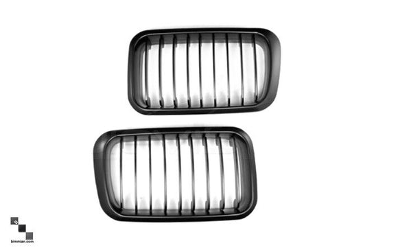 Black Kidney Grilles for BMW E36 3 Series (LCI)