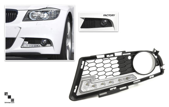 LED Daytime Running Lights for BMW E90/E91 3 Series (LCI)