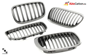 Carbon Fiber Front Kidney Grilles for BMW E46 3 Series Coupe (LCI)