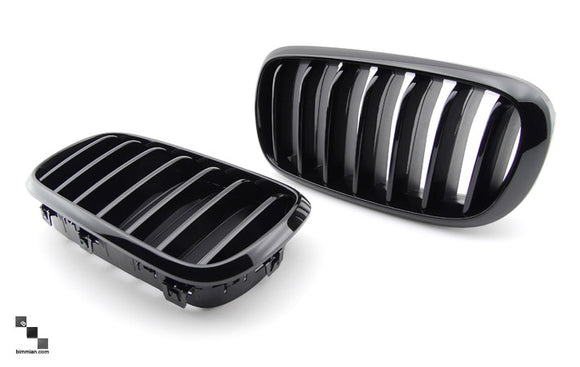 Black Kidney Grilles for BMW F15 X5
