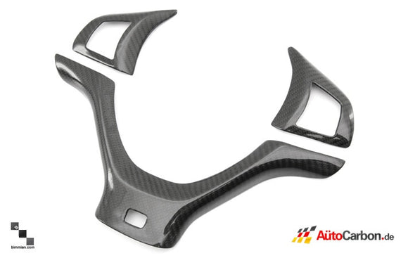 Carbon Fiber Steering Wheel Trim for BMW E70 X5M