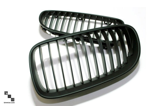 Black Kidney Grilles for BMW E92/E93 3 Series (LCI)
