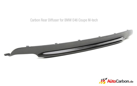 Carbon Fiber Rear Diffuser for BMW E46 3 Series Coupe