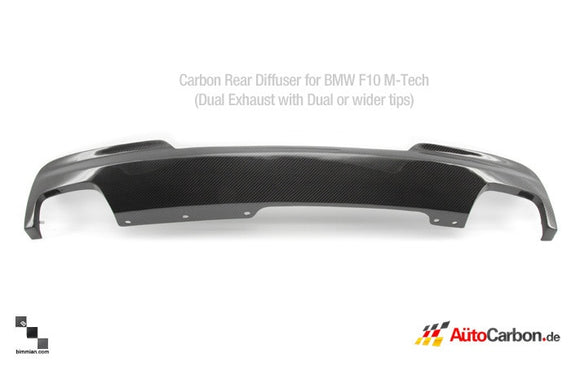 Carbon Fiber Rear Diffuser for BMW F10, F11 M-Tech