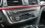 Polished Silver Radio Surround for BMW F30 3 Series, F32 4 Series