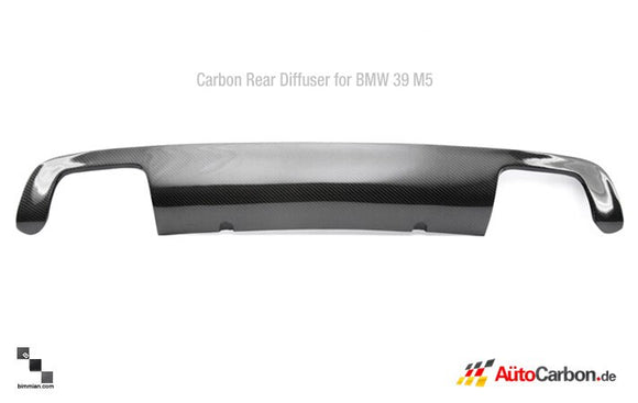 Carbon Fiber Rear Diffuser for BMW E39 M5