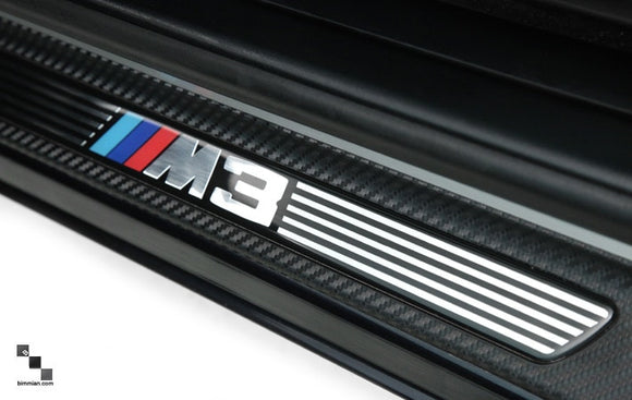 Carbon Fiber Vinyl Door Sills for BMW E46 M3